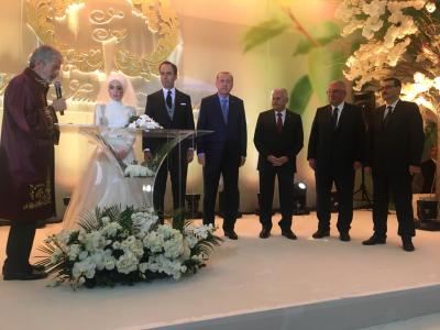 Başkan Erdoğan Saide Simin Mercanın nikah şahidi oldu