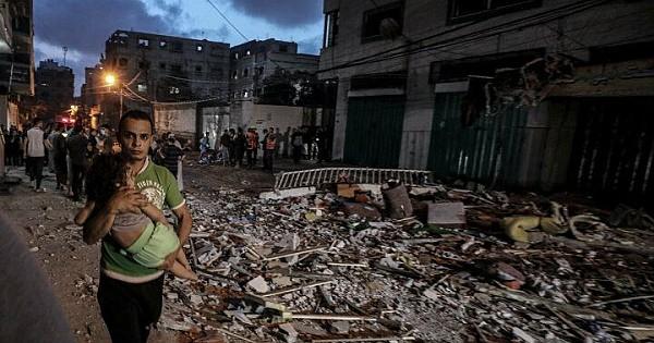 Gazze'ye Düzenlenen Hava Saldırısının Boyutu Gün Ağarınca Ortaya Çıktı