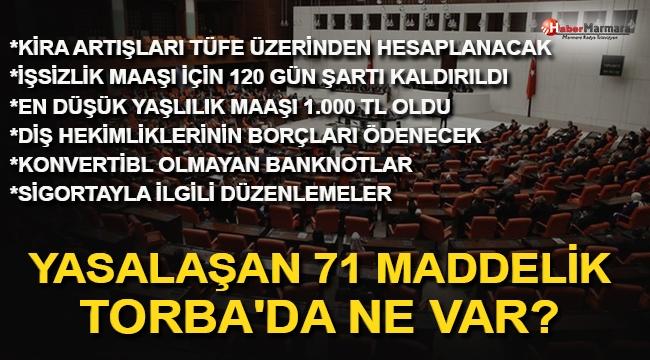 71 Maddelik Ekonomi Paketi Yasalaştı