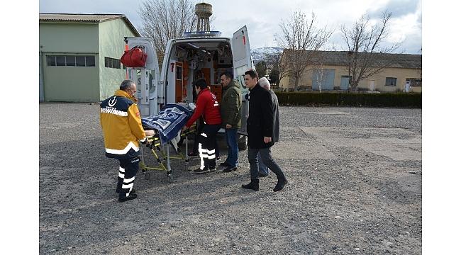 Ambulans helikopter organ yetmezliği bulunan hasta için havalandı
