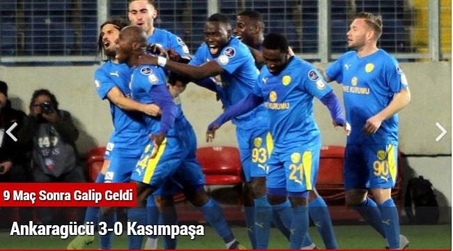 Ankaragücü 3-0 Kasımpaşa
