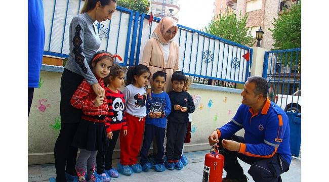Aydın'da miniklere, deprem ve yangın eğitimi