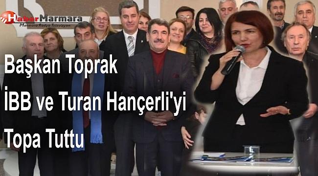 Başkan Toprak, İBB ve CHP Başkan adayı Av. Turan Hançerli'yi Topa Tuttu
