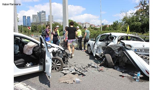 15 Temmuz Şehitler Köprüsü'nde kaza: 3 yaralı