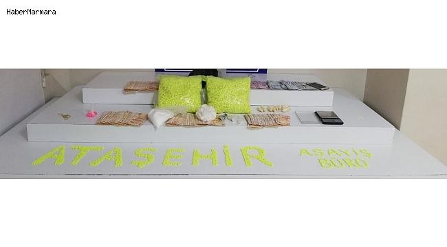 Ataşehir'de buzdolabına saklanmış halde uyuşturucu ele geçirildi