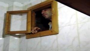 Aranan şahıs tuvaletin havalandırma boşluğunda yakalandı