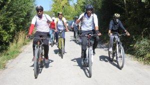 3 bin yıllık Şamran Kanalı'nda pedallar çevrildi