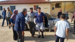 Beş kurşunla yaralanan gazi baba ocağında