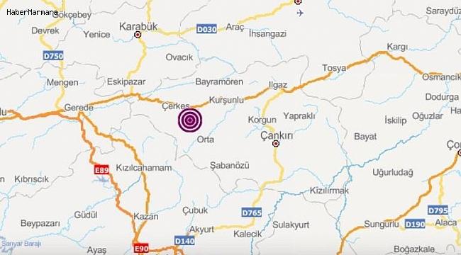 Çankırı'da Peş Peşe İki Şiddetli Deprem! Ankara'da da Hissedildi