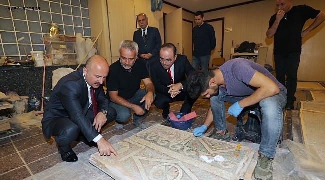 18 asırlık 'elmalı mozaik' Amasya'nın sembollerinden olacak