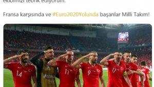 Cumhurbaşkanı Recep Tayyip Erdoğan'dan millilere tebrik
