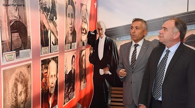 Cumhuriyet tırı Germencik'te ziyarete açıldı