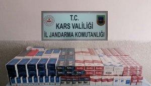 Digor'da kaçak sigara ele geçirildi