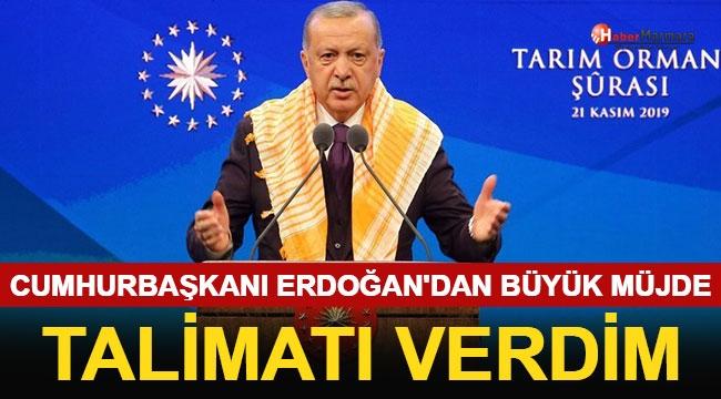 Cumhurbaşkanı Erdoğan'dan Büyük Müjde