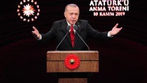 """Cumhurbaşkanı Erdoğan: """"Ülkemizde yıllardır en büyük ticaret Atatürk ve Cumhuriyet ticaretidir"""""""
