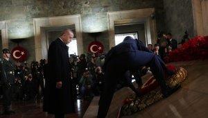 Devlet erkanı Cumhurbaşkanı Erdoğan'ın başkanlığında Anıtkabir'de