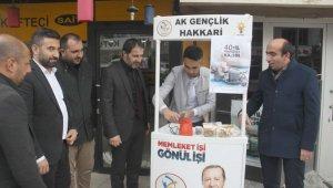 AK Parti'den kahve ikramı