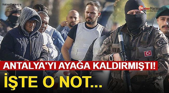 Antalya'yı Ayağa Kaldırmıştı! İşte O Not