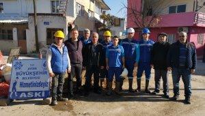 Aydın Büyükşehir, Nazilli Yeşilyurt Mahallesi'nin altyapısını yeniliyor