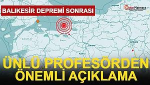 Balıkesir'deki Deprem Sonrası Prof. Dr. Şükrü Ersoy'dan Açıklama