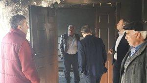 Başkan Kılınç yanan taziye evini inceledi