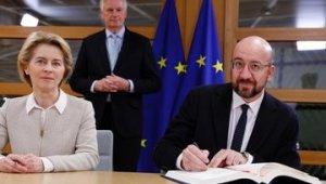 AB Başkanları, Brexit Anlaşması'nı imzaladı