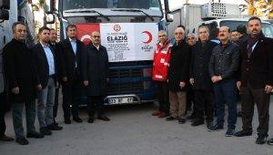 Adana'dan Elazığ'a gönderilen yardım tırları yola çıktı
