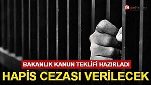 Bakanlık Kanun Teklifi Hazırladı Hapis Cezası Geliyor