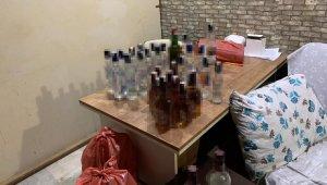Barda 30 şişe kaçak içki ele geçirildi