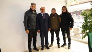Başkan Otgöz'den gazetecilere ziyaret
