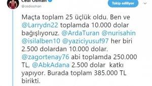 Cedi Osman'dan depremzedelere büyük destek