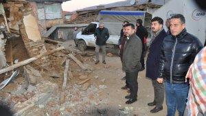 CHP heyeti Doğanyol'da incelemelerde bulundu