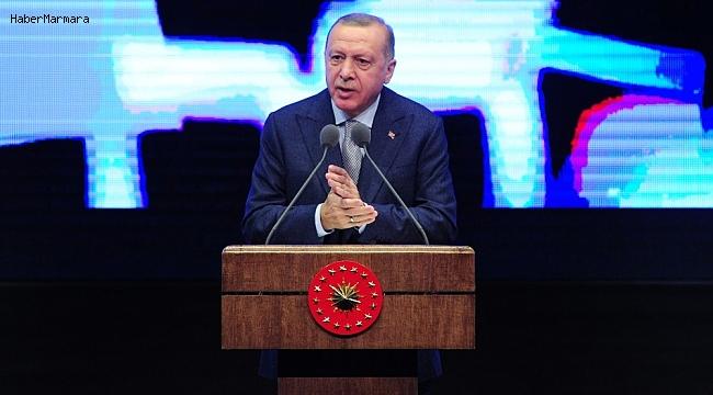 """Cumhurbaşkanı Erdoğan: """"Türkiye'yi enerji denkleminden dışlama girişimlerine izin vermedik"""""""