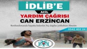Erzincan'da İdlib için yardım seferberliği başlatıldı