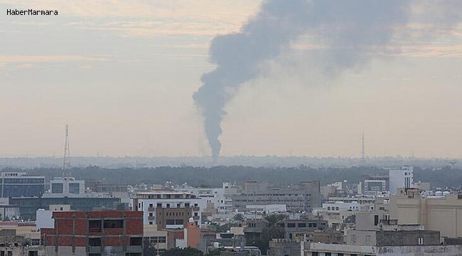 Hafter Güçleri Trablus Havalimanını Vurdu!