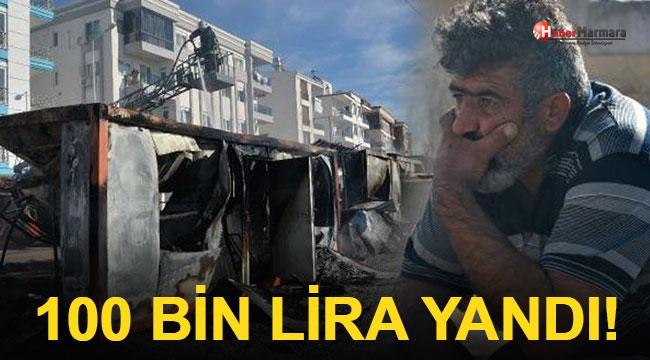 İşçi Konteynerindeki 100 Bin Lira Yandı!
