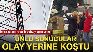 İstanbul'da İlginç Anlar! Ünlü Sunucular Olay Yerine Koştu