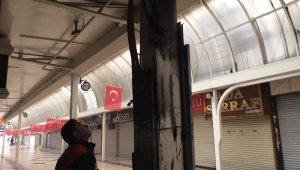 Kayseri Kazancılar Çarşısı'nda yangın