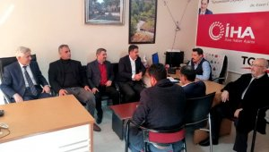 Milletvekili Fırat'tan İHA'ya ziyaret