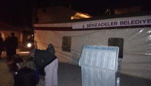 Şehzadeler Belediyesinden deprem bölgesine çadır desteği