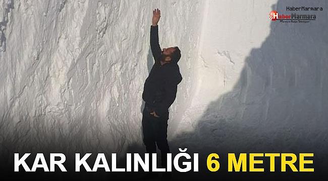 6 Metreyi Bulan Kar Tünelleri Şaşırttı