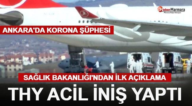 Ankara'da Koronavirüs Alarmı: İran Uçağı Acil İniş Yaptı. Karantina Kararı!