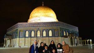 Atakum İHL kız öğrencilerinin 'Kudüs' heyecanı