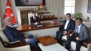 Başkan Demir'den Çıldır Kaymakamı Taş ve CHP İlçe Başkanı Şirin'e ziyaret