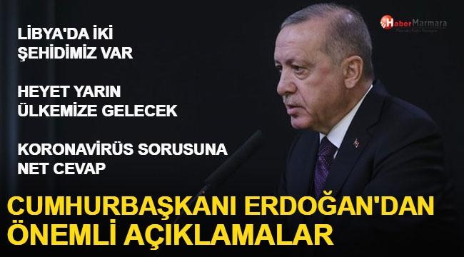 Cumhurbaşkanı Erdoğan: Libya'da İki Şehidimiz Var'