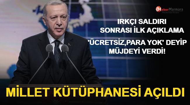 Cumhurbaşkanı Erdoğan Millet Kütüphanesi Açılışında Konuştu