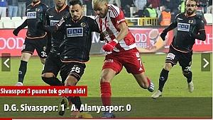 D.G. Sivasspor: 1 - A. Alanyaspor: 0