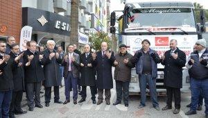 Denizli'den İdlib'e 7 tırlık yardım konvoyu yola çıktı