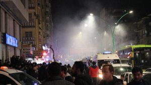 Diyarbakır'da derbi kutlamalarında gergin anlar