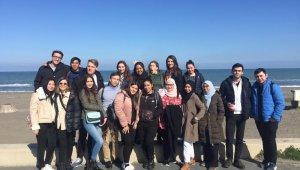 Erasmus öğrencileri Samsun'u gezdi